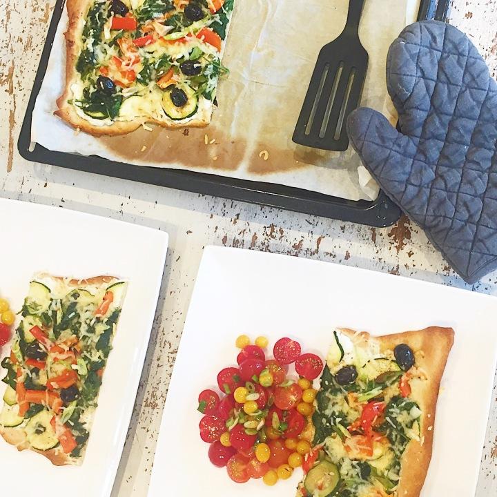 Pizza blanche veggie