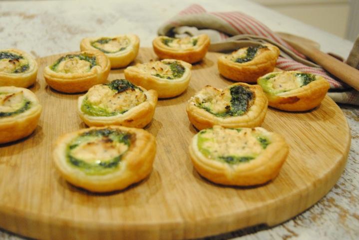 Zak de Noël #7: Mini quiche épinards et fromage frais aromatisé aupoivre