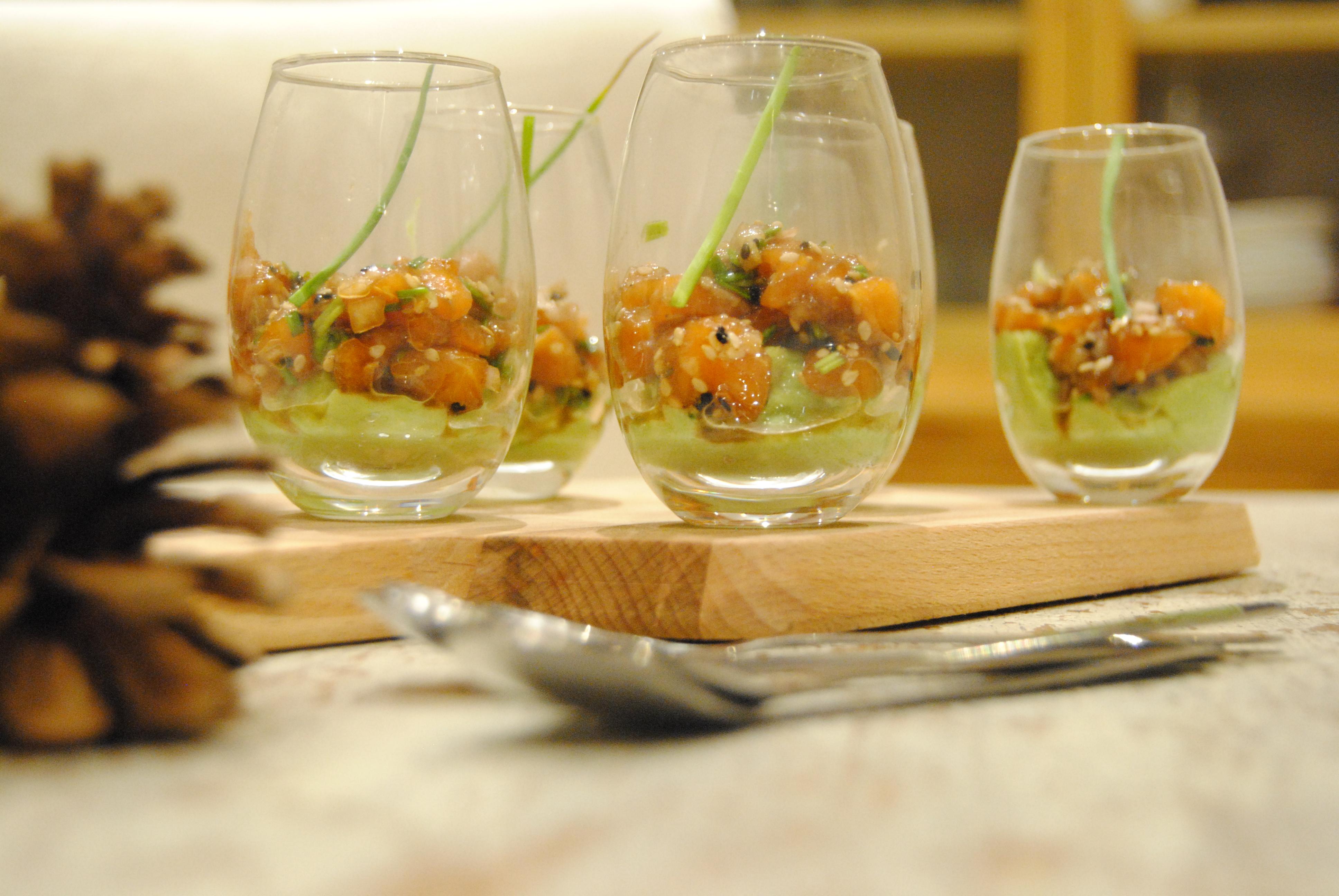 Verrine de noel elegant tartare saumon with verrine de noel top entre pour un nol belge une - Verrine pour noel ...