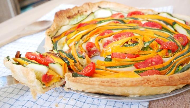 Tarte aux légumes et à laricotta