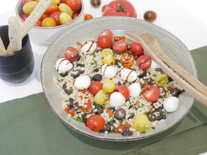 Salade de couscous perlé à l'épeautre