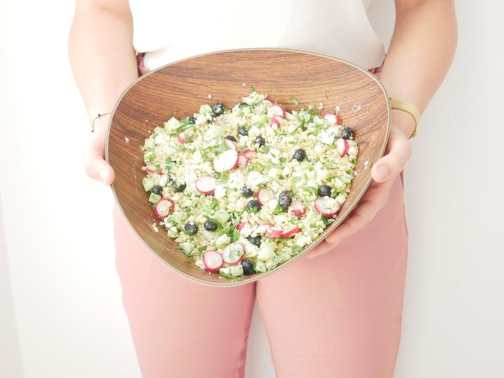 Salade de boulgour sucrée –salée